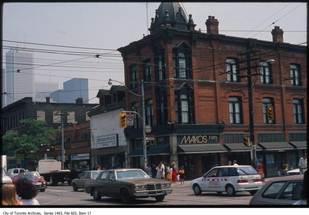 1983 – Makos Furs was once at 441 Queen St W (at Spadina Ave) - now Basil Box
