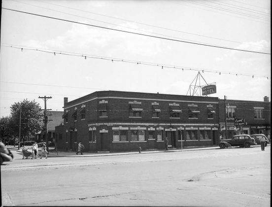 1945 – New Toronto Hotel once at Lake Shore Blvd W and Fourth St, southwest corner - now Westlake Boutique Hotel