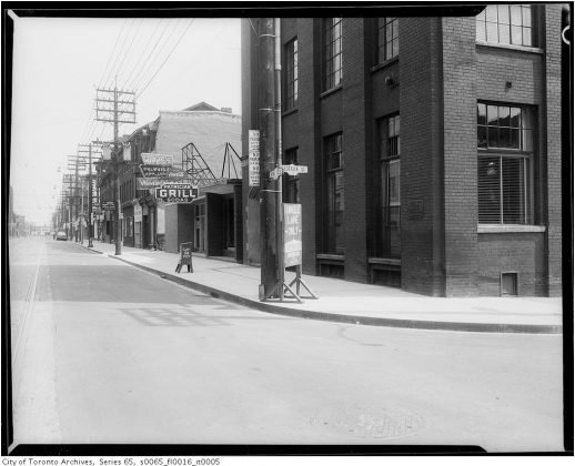 1958 - Patrician Grill at 219 King St E