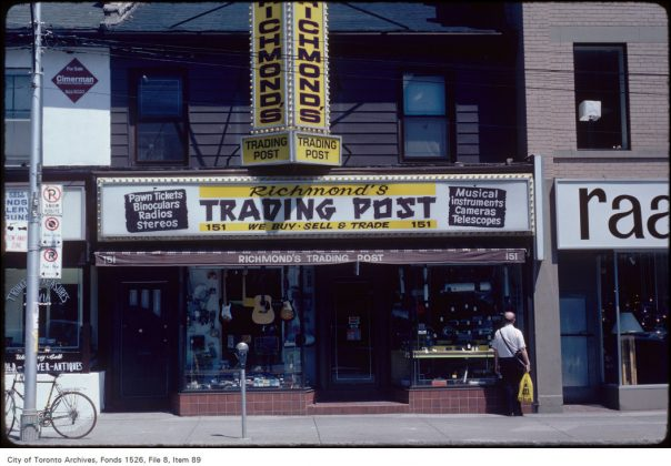 1982 - Richmond's Trading Post was once at 151 Church St - now Five Star Exchange