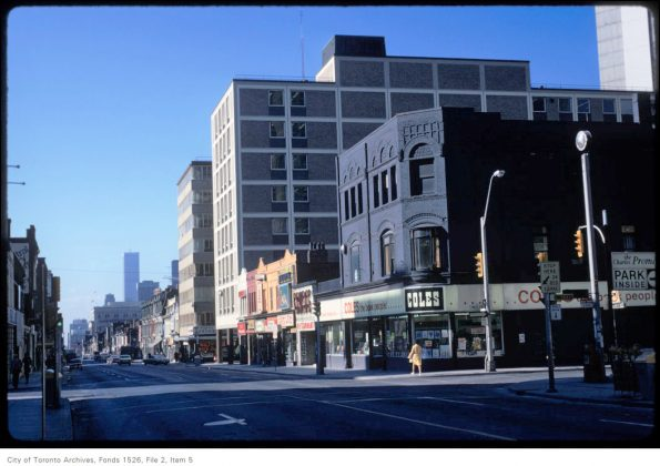 1973 – Coles once at 728 Yonge St (at Charles St W) - now Shoppers Drug Mart