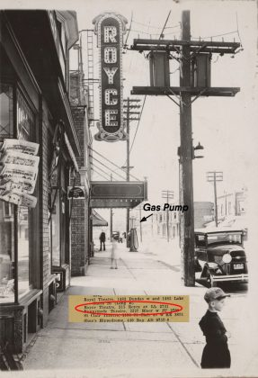 1929 - Royce Theatre once at 315 Royce Ave (street name changed to 1621 Dupont St), west of Edwin Ave on south side