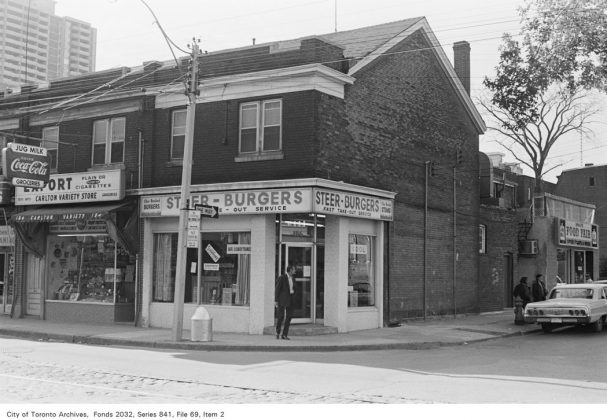 1972 - Steer Burgers once at 186 Carlton St - now Chew Chew's Diner