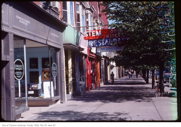1981 - Stem Open Kitchen Restaurant once at 354 Queen St W - now Buono Queen