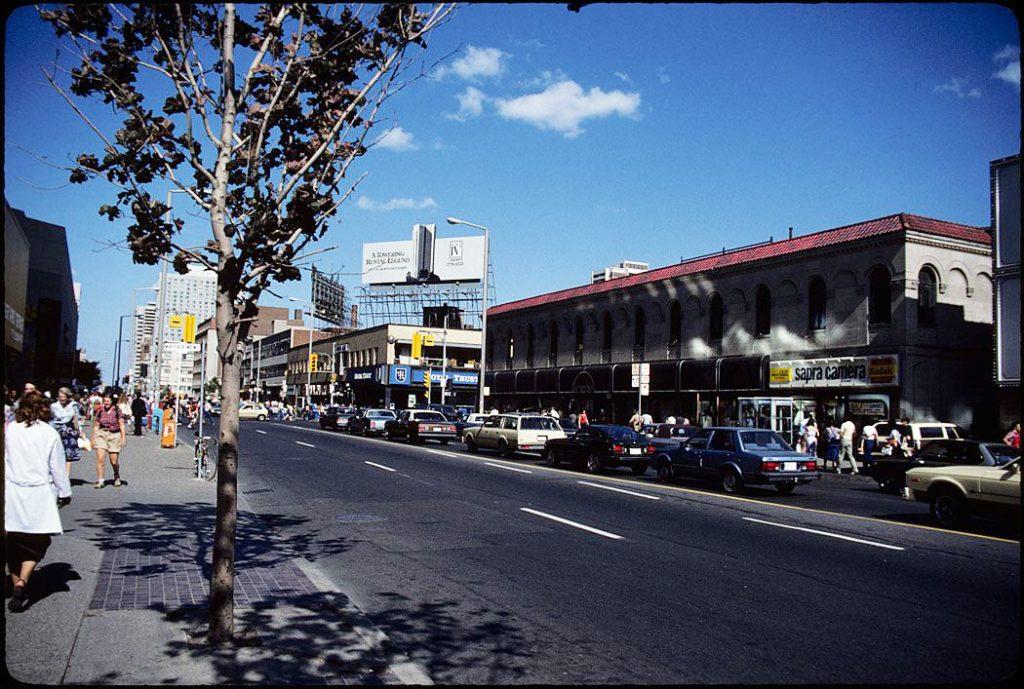 1981 - Stollery's, looking east on Bloor St W towards Yonge St