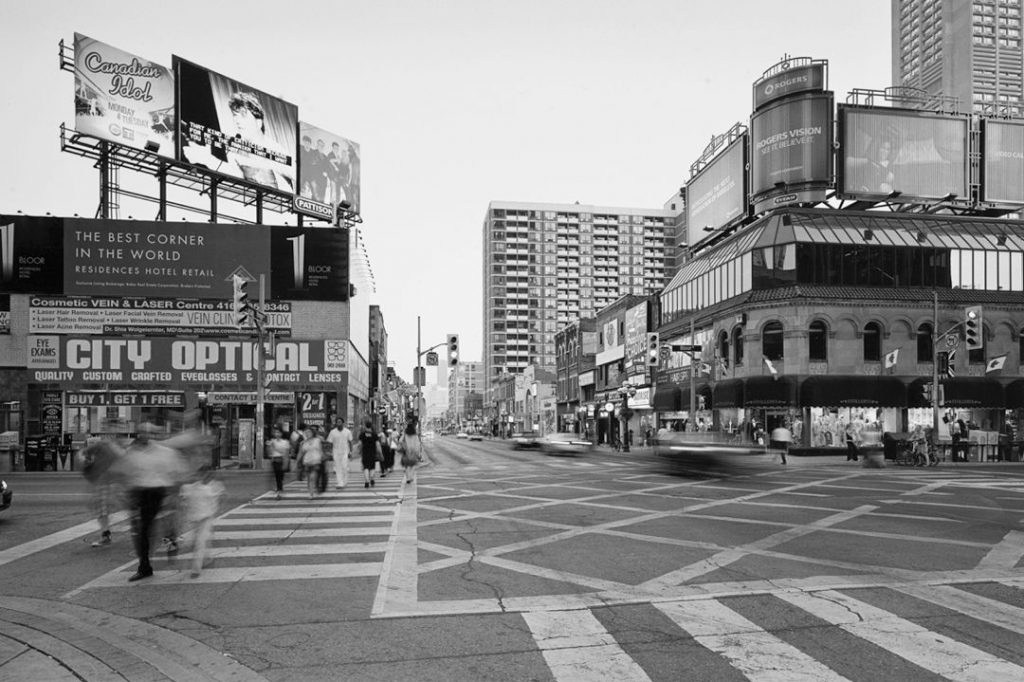 2007 - City Optical and Stollery's at Yonge and Bloor Sts, looking south