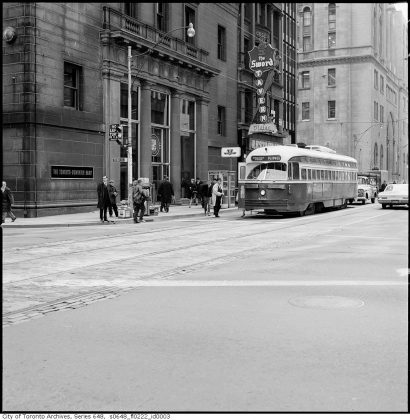 1967 - Sword Tavern once at 7 King St W (west of Yonge St)