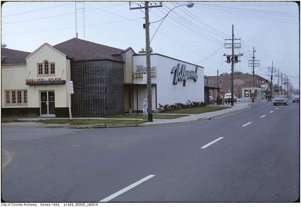 1971 - The Hollywood Dine & Dance once at 689 The Queensway (between Wesley St & Penhurst Ave)