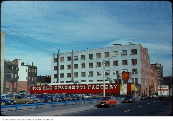 1975 - The Old Spaghetti Factory at 54 The Esplanade
