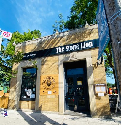 2020 - The Stone Lion at 1958 Queen St E (at Kenilworth Ave)