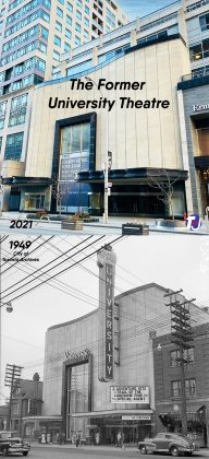 2021/1949 - University Theatre once at 100 Bloor St W, south side west of Bay St