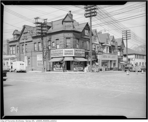 1959 – Vernons Drugs once at 148 Avenue Rd (at Davenport Rd) - now Super Convenience