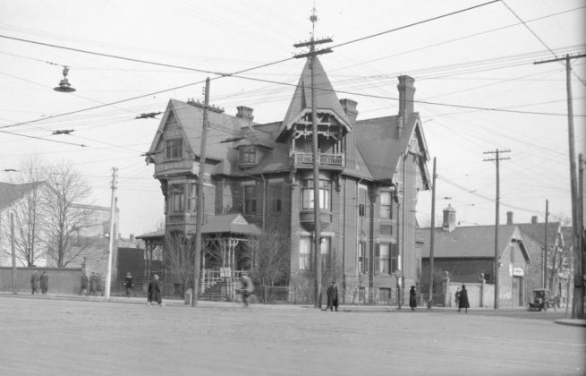 Before 1915 - Dr Henry Moorhouse's residence and later the site of the the theatre, on the northeast corner of Spadina Ave and Dundas St W