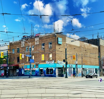 2020 - Rexall, formerly the Victory Burlesque Theatre at the northeast corner of Spadina Ave and Dundas St W