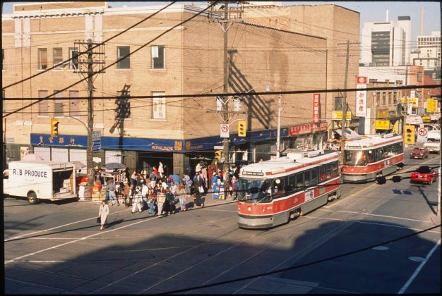 1980's - The Royal Bank, formerly the Victory Burlesque Theatre at the northeast corner of Spadina Ave and Dundas St W