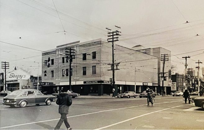 1970's - The Golden Harvest Theatre, formerly the Victory Burlesque Theatre at Spadina Ave and Dundas St W, looking northeast