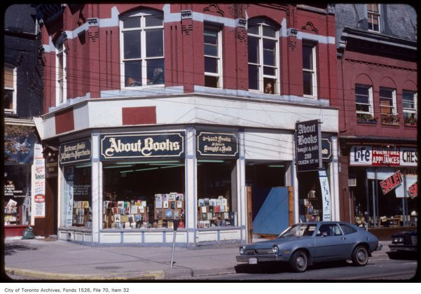 1981 - About Books at 280 Queen St W - now Aritzia