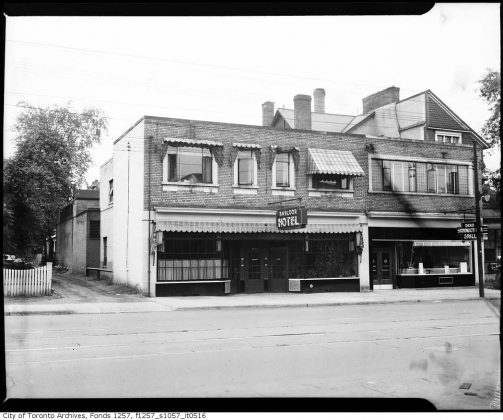 1945 - Babloor Hotel once at 1163, 1167 Bay St, south of Bloor St W