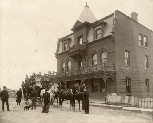 1890 - Bell's Hotel once at Bloor & Dundas Sts W, southwest corner
