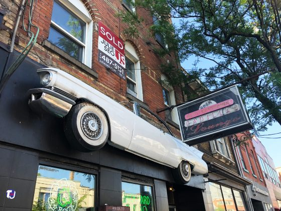 2019 - Cadillac Lounge at 1296 Queen St W - now closed
