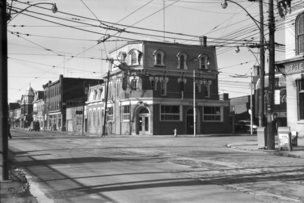 1955 - Columbia Hotel once at Ossington Ave & Queen St W, northwest corner