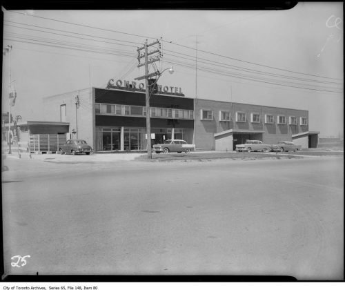 1955 - Conroy Hotel once at 3080 Dufferin St, at Lawrence Ave - building no longer exists