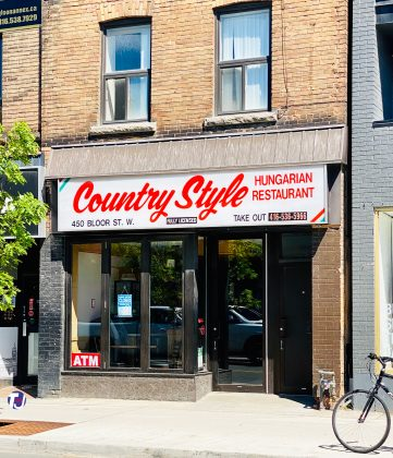 2020 - Country Style Hungarian Restaurant at 450 Bloor St W