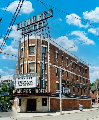 2020 - Filmores Hotel at 212 Dundas St E, at George St