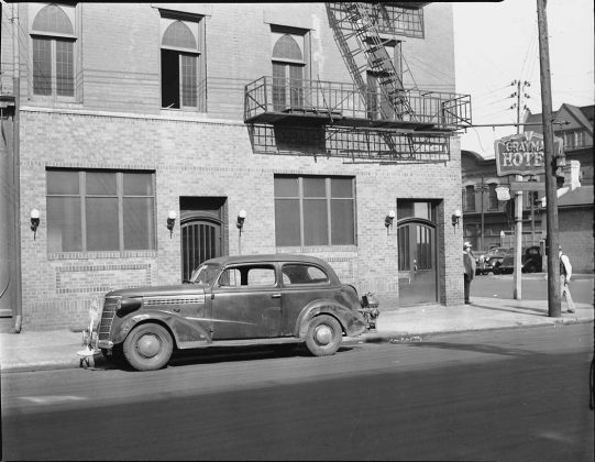 1945 - Graymar Hotel once at Jarvis St and Front St E, northeast corner