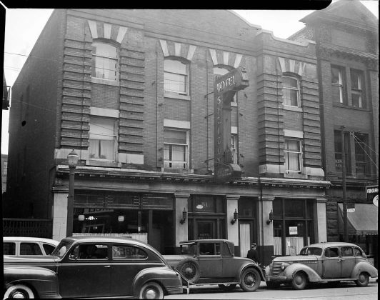 1945 - Hotel Sheldon once at 81 Victoria St, south of Richmond St E on the east side