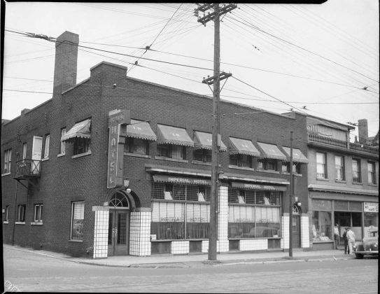 1945 - Imperial Hotel once at 54-58 Dundas St E at Victoria Ln - now the Imperial Pub