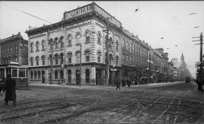 1919 - Imperial Hotel once at King St W and York St, northeast corner - building no longer exists