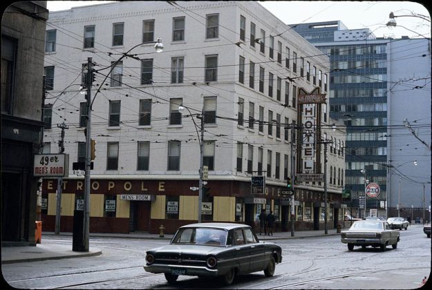 1969 - Metropole Hotel once at King St W and York St, southwest corner