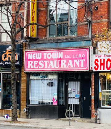 2020 - New Town Restaurant at 413 Parliament St
