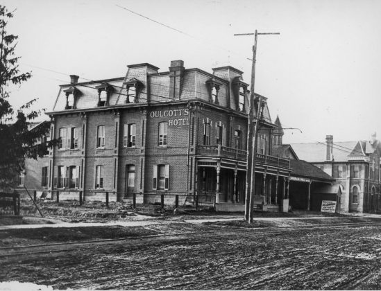 1911 - Oulcott's Hotel and later Postal Station K once at 2388 Yonge St, north of Eglinton Ave - building no longer exists