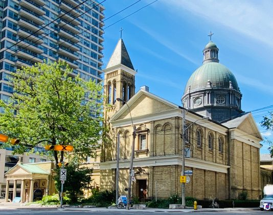 2020 - Our Lady of Lourdes at 520 Sherbourne St (between Lourdes Ln & Earl St)