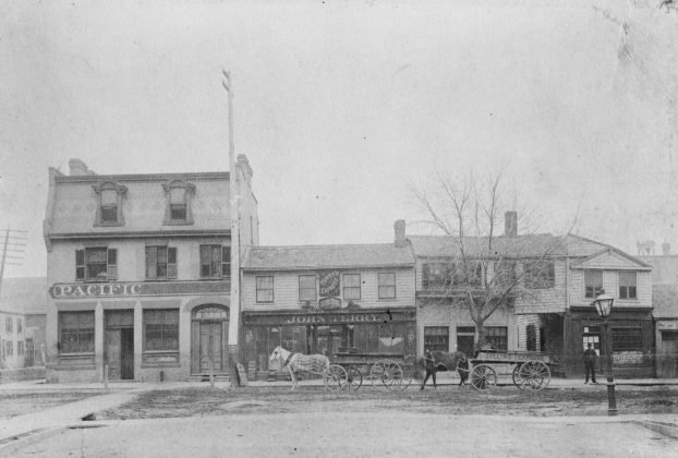 1885 - Pacific Hotel once at Jarvis St and Richmond St E, southeast corner - now Mystic Muffin