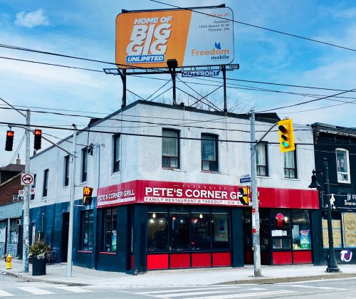 2020 - Pete's Corner Grill once at 1582 Queen St W - now Dave's Hot Chicken