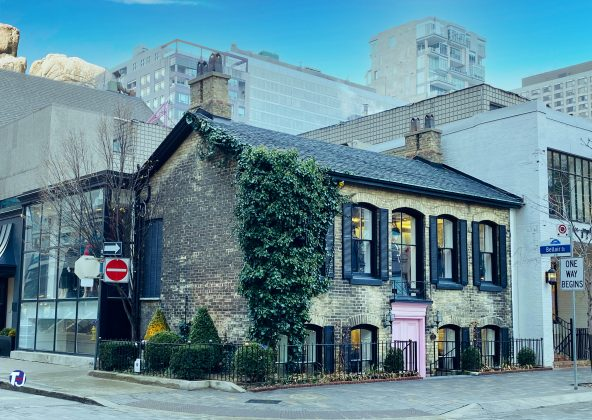 2019 - Pink Tartan at 77 Yorkville Ave - now closed