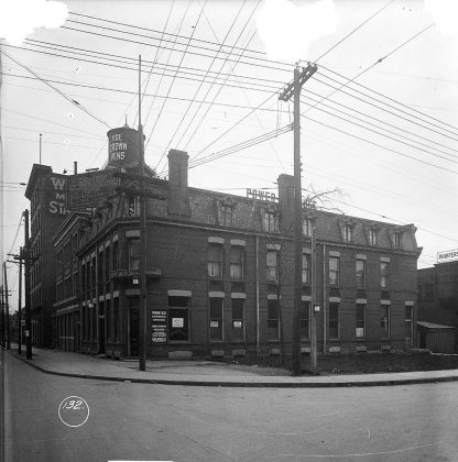 1919 - Power House Hotel once at King St W and Spadina Ave, southeast corner - building no longer exists