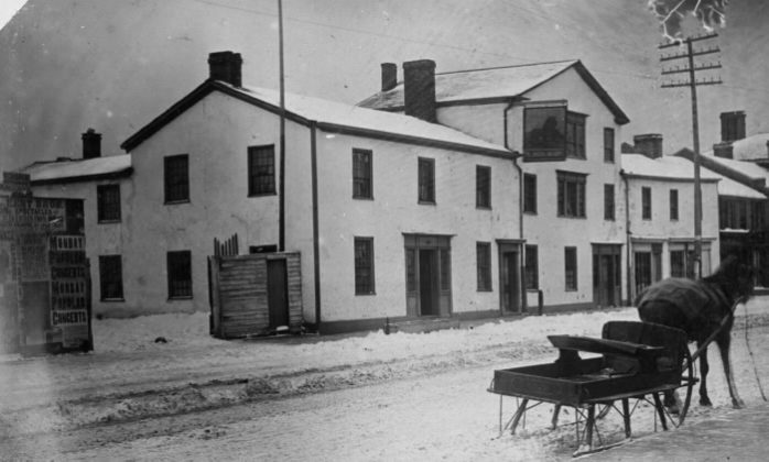 1885 - Red Lion Hotel once on Yonge St, east side north of Bloor St