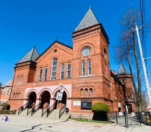 2021 - Santa Cruz Catholic Church at 142 Argyle St (at Dovercourt Rd)