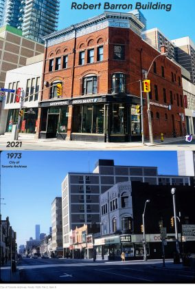 2021/1973 - Coles once in Robert Barron Building at 728 Yonge St - now Shoppers Drug Mart