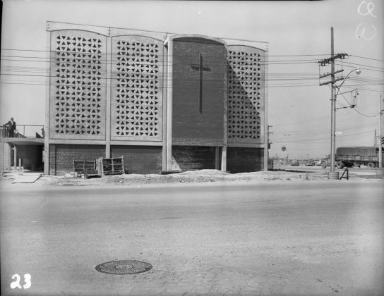 1955 - St Charles Borromeo Church at 811 Lawrence Ave W and Dufferin St, southwest corner