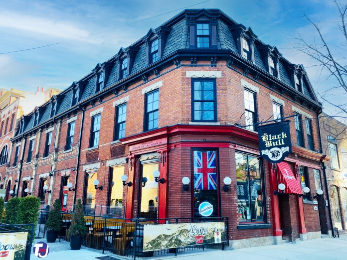 The Black Bull Tavern at 298 Queen St W in Toronto (2020)