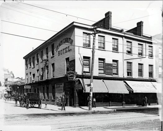 1899-1918 - The New Carlton Hotel once at 155 Yonge St and Richmond St E, southeast corner - building no longer exists