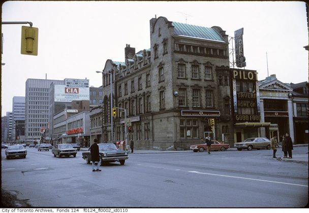 1971 – The Pilot Tavern once on Yonge St (north of Bloor St) - now at 22 Cumberland St