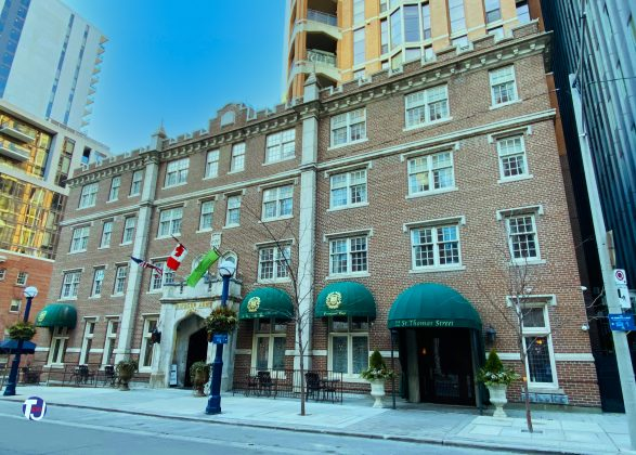 2021 - Windsor Arms Hotel at 18 St Thomas St, south of Bloor St W