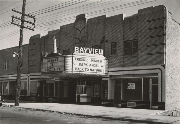 1936 - Bayview Theatre, later Bayview Playhouse (live theatre) once at 1605 Bayview Ave, east side two blocks south of Eglinton Ave E - opened 1936 to late 1990's