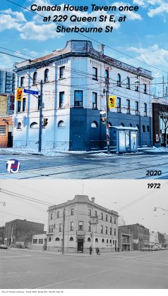 2020/1972 - Canada House Tavern once at 229 Queen St E, at Sherbourne St